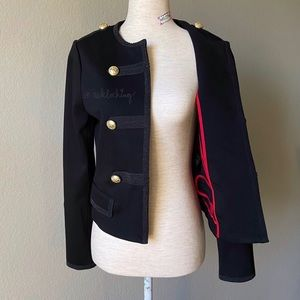 EXPRESS gorgeous military jacket red-trims
